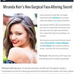 ENews - Miranda Kerr's non-surgical face-altering secret.