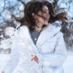 Canva Womens White Winter Coat